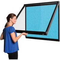 Shield Coloured Frame Showcase With Top Hinged Doors. Find Loads More Colours, Materials & Styles Online - Buy Office Furnit