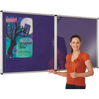 Purple Colourplus Vibrant Lockable Noticeboards. Find Loads More Colours, Materials & Styles Online - Buy Office Furniture Onlin