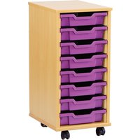 8 shallow tray storage unit