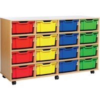 Green 16 Deep Tray Storage Unit. Find Loads More Colours, Materials & Styles Online - Buy Office Furniture Online