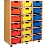 Blue 18 Deep Tray Storage Unit. Find Loads More Colours, Materials & Styles Online - Buy Office Furniture Online