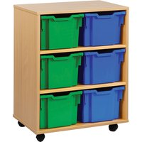 Pink/purple/green/orange 6 Extra Deep Tray Storage Unit. Find Loads More Colours, Materials & Styles Online - Buy Office Fur
