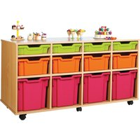 Pink/purple/lime 12 Variety Tray Storage Unit. Find Loads More Colours, Materials & Styles Online - Buy Office Furniture Onl