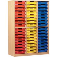 Blue 48 Tray Open Storage Cupboard. Find Loads More Colours, Materials & Styles Online - Buy Office Furniture Online