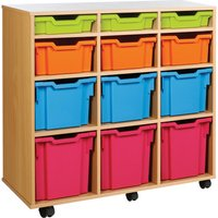 Red Variety Tray Storage Unit With 12 Trays. Find Loads More Colours, Materials & Styles Online - Buy Office Furniture Onlin