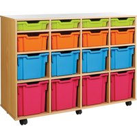 Green Variety Tray Storage Unit With 16 Trays . Find Loads More Colours, Materials & Styles Online - Buy Office Furniture On