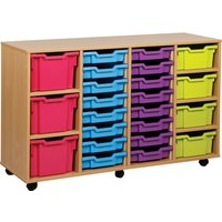 Green 23 Variety Tray Storage Unit. Find Loads More Colours, Materials & Styles Online - Buy Office Furniture Online
