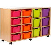 Red/blue Variety Tray Storage Unit With 14 Trays. Find Loads More Colours, Materials & Styles Online - Buy Office Furniture
