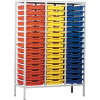 Grey Metal Tray Storage Unit With 45 Trays. Find Loads More Colours, Materials & Styles Online - Buy Office Furniture Online