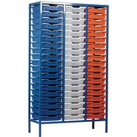 Red/purple Metal Tray Storage Unit With 57 Trays. Find Loads More Colours, Materials & Styles Online - Buy Office Furniture
