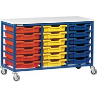 Red/green Metal Tray Storage Unit With 18 Trays. Find Loads More Colours, Materials & Styles Online - Buy Office Furniture O
