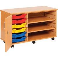 Green Combination Tray Storage Cupboard. Find Loads More Colours, Materials & Styles Online - Buy Office Furniture Online