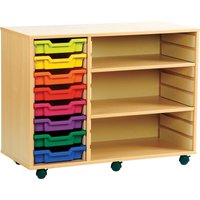 Red/blue/yellow Combination Tray Storage Bookcase. Find Loads More Colours, Materials & Styles Online - Buy Office Furniture