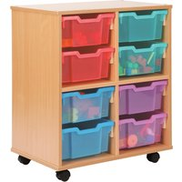 Red Allsorts 4 Cube Bookcase With 8 Deep Trays. Find Loads More Colours, Materials & Styles Online - Buy Office Furniture On