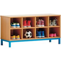 Cloakroom Bench With 8 Open Compartments . Find Loads More Colours, Materials & Styles Online - Buy Office Furniture Online