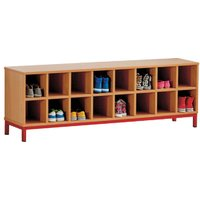Cloakroom Bench With 16 Open Compartments . Find Loads More Colours, Materials & Styles Online - Buy Office Furniture Online