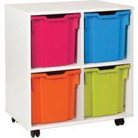 White 4 Jumbo Tray Storage Unit. Find Loads More Colours, Materials & Styles Online - Buy Office Furniture Online