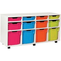 White 12 Variety Tray Storage Unit. Find Loads More Colours, Materials & Styles Online - Buy Office Furniture Online