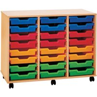 Pop 24 Shallow Tray Storage Unit. Find Loads More Colours, Materials & Styles Online - Buy Office Furniture Online