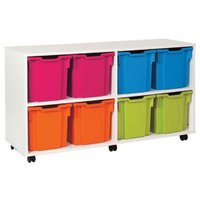 White 8 Jumbo Tray Storage Unit. Find Loads More Colours, Materials & Styles Online - Buy Office Furniture Online
