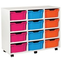 White 12 Deep Tray Storage Unit (Vertical). Find Loads More Colours, Materials & Styles Online - Buy Office Furniture Online