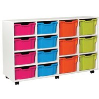 White 8 Deep, 6 Extra Deep Tray Storage Unit. Find Loads More Colours, Materials & Styles Online - Buy Office Furniture Onli