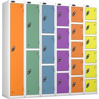 Probe Autumn Colour Lockers With White Body . Find Loads More Colours, Materials & Styles Online - Buy Office Furniture Onli