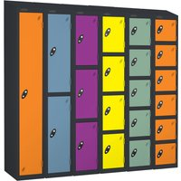 Probe autumn colours lockers with sloping top