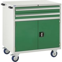Euroslide 900 Mobile 2 Drawer And Cupboard 980h. Find Loads More Colours, Materials & Styles Online - Buy Office Furniture O