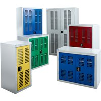 Qmp Perforated Door Cupboards. Find Loads More Colours, Materials & Styles Online - Buy Office Furniture Online