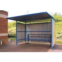 Traditional Cycle Shelter With Galvanised Sides. Find Loads More Colours, Materials & Styles Online - Buy Office Furniture O