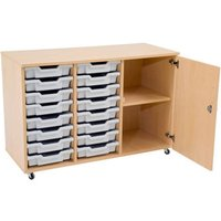 Mobile Storage Unit With 1 Shelf And 16 Shallow Gratnells Trays. Find Loads More Colours, Materials & Styles Online - Buy Of