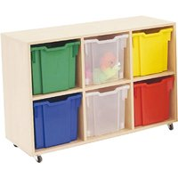 Mobile Tray Storage Unit With 6 Jumbo Gratnells Trays. Find Loads More Colours, Materials & Styles Online - Buy Office Furni