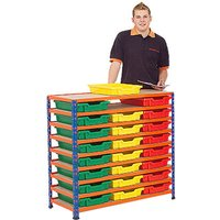 Rapid 2 Shelving Bay With 24 Shallow Gratnells Trays. Find Loads More Colours, Materials & Styles Online - Buy Office Furniture