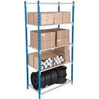Tubular Shelving Bay With 5 Tubular Steel Shelves. Find Loads More Colours, Materials & Styles Online - Buy Office Furniture