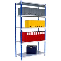 Tubular Shelving Bay With 5 Solid Steel Shelves. Find Loads More Colours, Materials & Styles Online - Buy Office Furniture Onlin