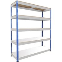 Rapid 1 Heavy Duty Shelving With 5 Melamine Shelves 1525wx1980h (Blue/grey). Find Loads More Colours, Materials & Styles Onl