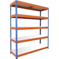 Rapid 1 Heavy Duty Shelving With 5 Melamine Shelves 1525wx1980h (Blue/orange). Find Loads More Colours, Materials & Styles Onlin