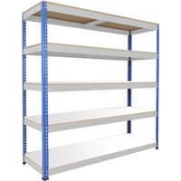 Rapid 1 Heavy Duty Shelving With 5 Melamine Shelves 1830wx1980h (Blue/grey). Find Loads More Colours, Materials & Styles Onl