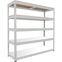 Rapid 1 Heavy Duty Shelving With 5 Melamine Shelves 2440wx1980h (Grey). Find Loads More Colours, Materials & Styles Online - Buy