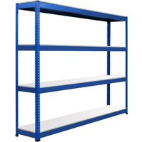 Rapid 1 Heavy Duty Shelving With 4 Melamine Shelves 2134wx2440h (Blue). Find Loads More Colours, Materials & Styles Online -