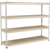 Rapid 1 Heavy Duty Shelving With 4 Chipboard Shelves 2134wx2440h (Grey). Find Loads More Colours, Materials & Styles Online