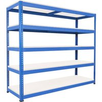 Rapid 1 Heavy Duty Shelving With 5 Melamine Shelves 2134wx2440h (Blue). Find Loads More Colours, Materials & Styles Online -