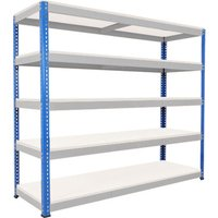 Rapid 1 Heavy Duty Shelving With 5 Melamine Shelves 2134wx2440h (Blue/grey). Find Loads More Colours, Materials & Styles Onl