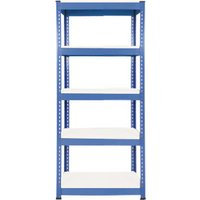Rapid 1 Standard Shelving With 5 Melamine Shelves 915wx1980h (Blue). Find Loads More Colours, Materials & Styles Online - Bu