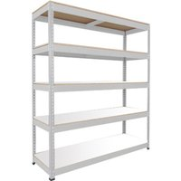 Rapid 1 Standard Shelving With 5 Melamine Shelves 1220wx1980h (Grey). Find Loads More Colours, Materials & Styles Online - B