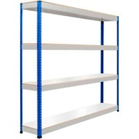 Rapid 1 Standard Shelving With 4 Melamine Shelves 1220wx1980h (Blue/grey). Find Loads More Colours, Materials & Styles Online -