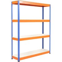 Rapid 1 Standard Shelving With 4 Melamine Shelves 1220wx1980h (Blue/orange). Find Loads More Colours, Materials & Styles Onl