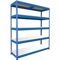 Rapid 1 Standard Shelving With 5 Melamine Shelves 1525wx1980h (Blue). Find Loads More Colours, Materials & Styles Online - Buy O