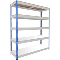 Rapid 1 Standard Shelving With 5 Melamine Shelves 1525wx1980h (Blue/grey). Find Loads More Colours, Materials & Styles Onlin